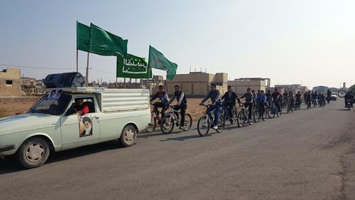 مسابقه دوچرخه سواری به مناسبت 13 آبان