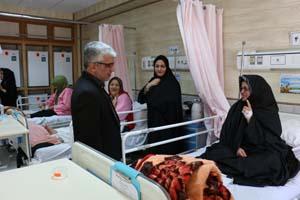 بازدید بیماران بیمارستان سیدالشهدا