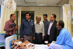 بازدید خبرنگاران از بیمارستان