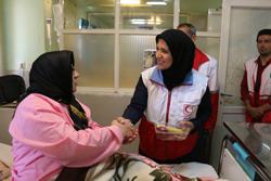 بازدید هلال احمر از بیمارستان