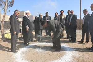 کلنگ زنی خانه بهداشت علی آباد کویر