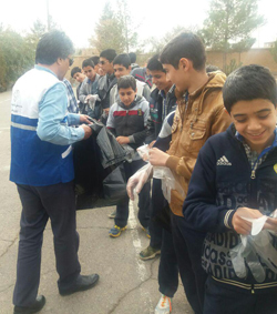 پاکسازی محیط روستای حسین آباد